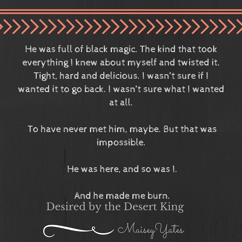 He was full of black magic. The kind that